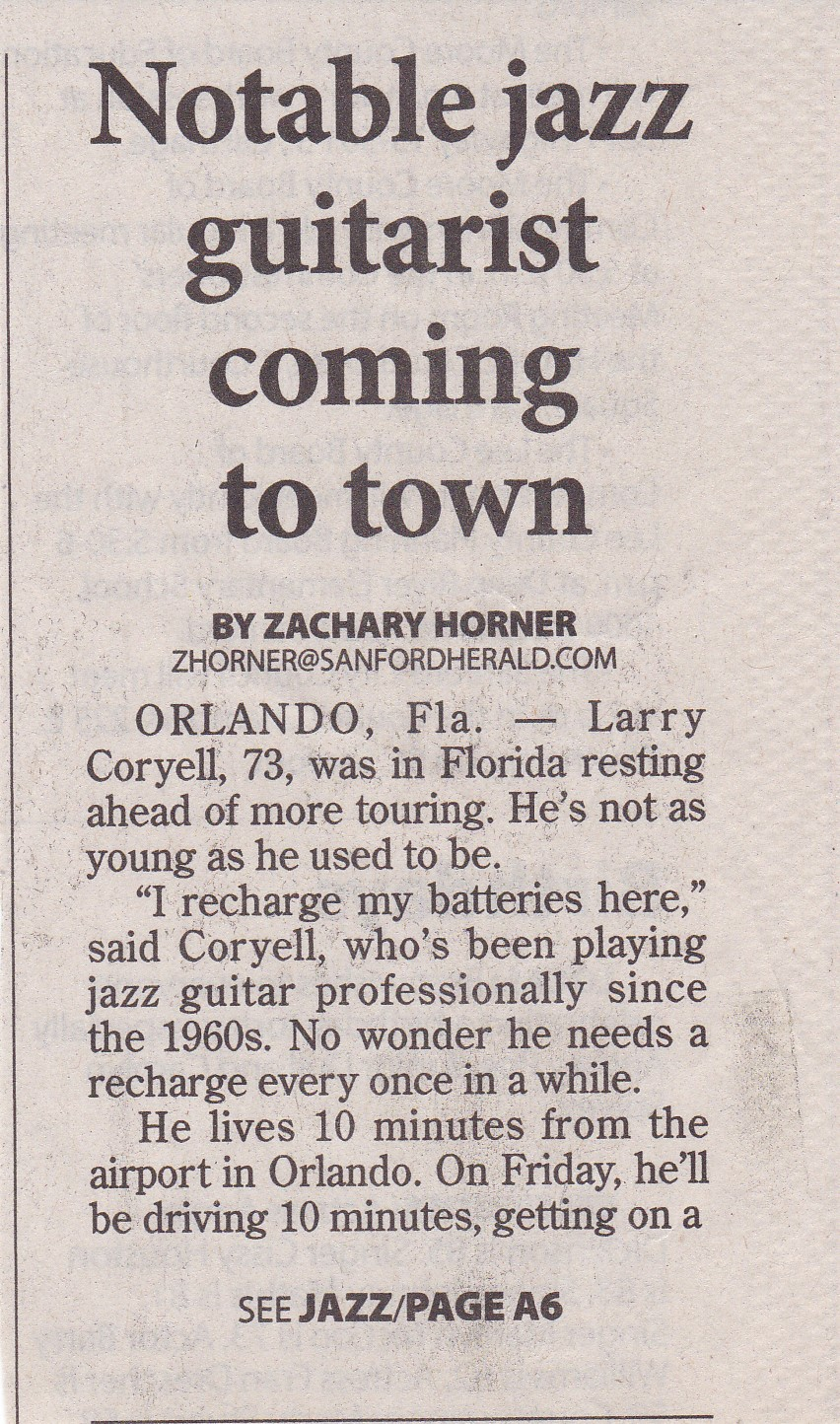 HOCJO-Guest-Artist-Larry-Coryell-Herald-article-pg-1